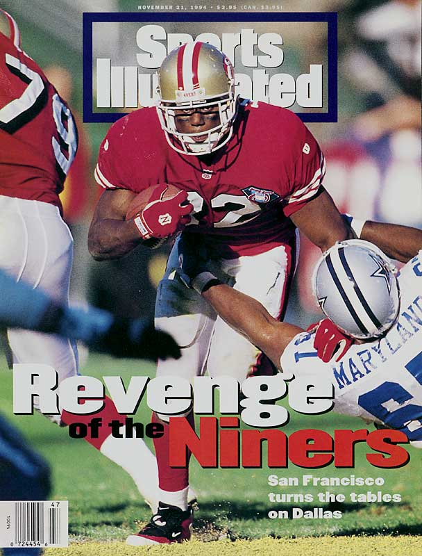Eventual league champion San Francisco knocked off defending league champion Dallas at the zenith of a memorable early-1990s rivalry which saw the teams meet six times over a three-and-a-half-year span (including three straight NFC Championship Games). Steve Young threw for two touchdowns and rushed for a third in a 21-14 victory over the visiting Cowboys.