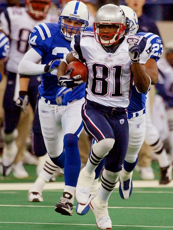 The Patriots weathered a four-touchdown performance from Peyton Manning to escape the RCA Dome with a 38-34 victory. New England's Bethel Johnson had a 92-yard kick return for a touchdown to end the first half and a 67-yard return in the fourth quarter that changed the tide of the game. Just months later, New England would take down Indianapolis a second time in the AFC Championship Game on its way to a second Super Bowl victory in three seasons.