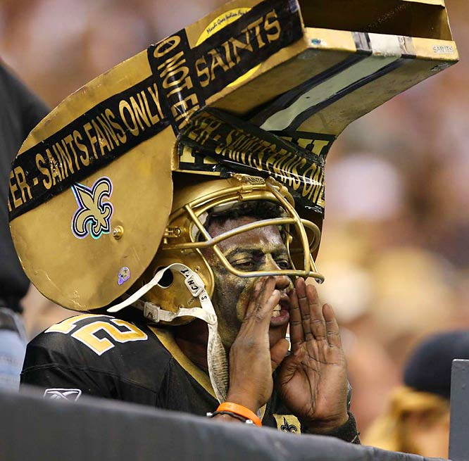 No one wears his (or her) heart on their face quite like a sports fan. The NFL is home to more than a few hyper-passionate partisans who relish decorating their mugs on behalf of their beloved teams.