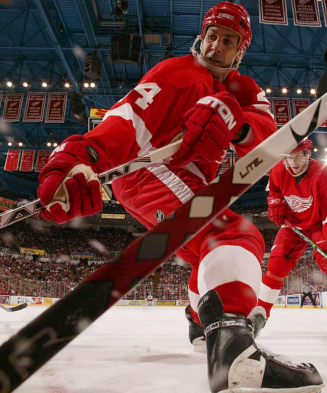 The 45-year-old backline stalwart is an NHL sea turtle, now playing his 24th season. Born in Chicago, Chelios was a standout at Wisconsin before launching his NHL career, which includes more than 900 points, 11 All-Star appearances, three Norris Trophies and two Stanley Cups.