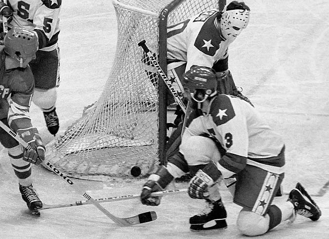 """Nicknamed """"Wolfman,"""" the lanky, bearded backliner from Flint, Mich., was an All-America at Bowling Green and member of the 1980 U.S. Miracle on Ice team. Gold medal in hand, he joined the Islanders in time for the first of their four successive Stanley Cups (1980-83). The steady, stay-at-home Morrow was a mainstay on the Island for 10 seasons and inducted into the U.S. Hockey Hall of Fame in 1995."""