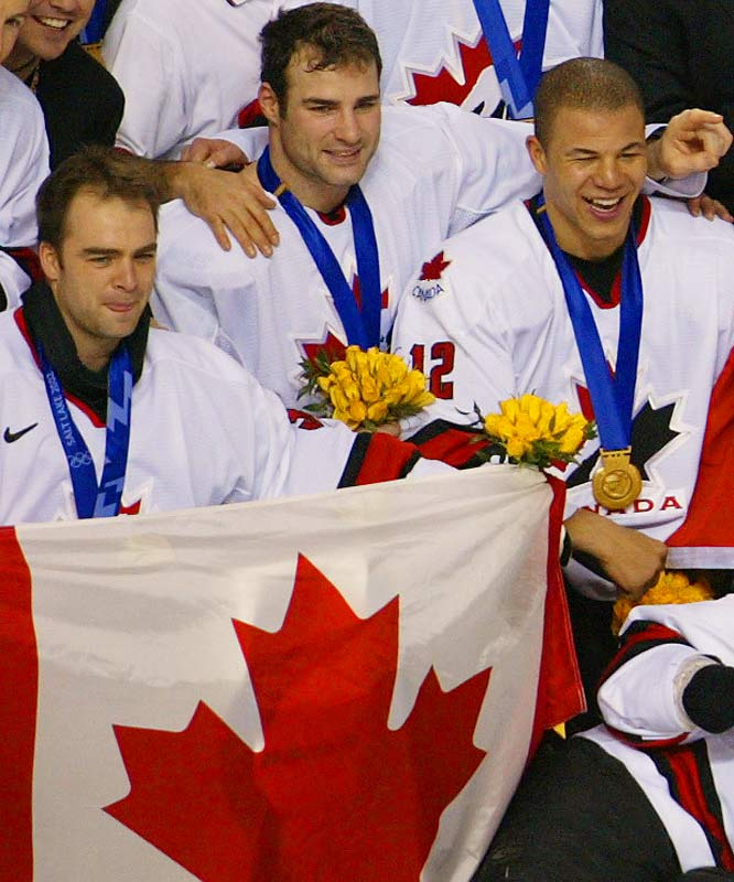 One of the bright spots of a tough stretch came in 2002 when Lindros won the gold medal while playing for Team Canada at the Winter Olympics in Lake Placid.