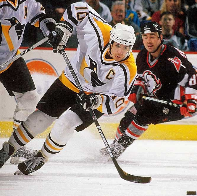 Traded to the Penguins in 1991, Francis joined Mario Lemieux and Jaromir Jagr in time for the first of two successive Stanley Cups (1991, `92). In Pittsburgh, Francis blossomed into one of the NHL's most respected two-way players and leaders. With Lemieux injured in 1994-95, Francis took over as captain and won the Selke (best two-way forward) and Lady Byng (gentlemanly play) trophies.