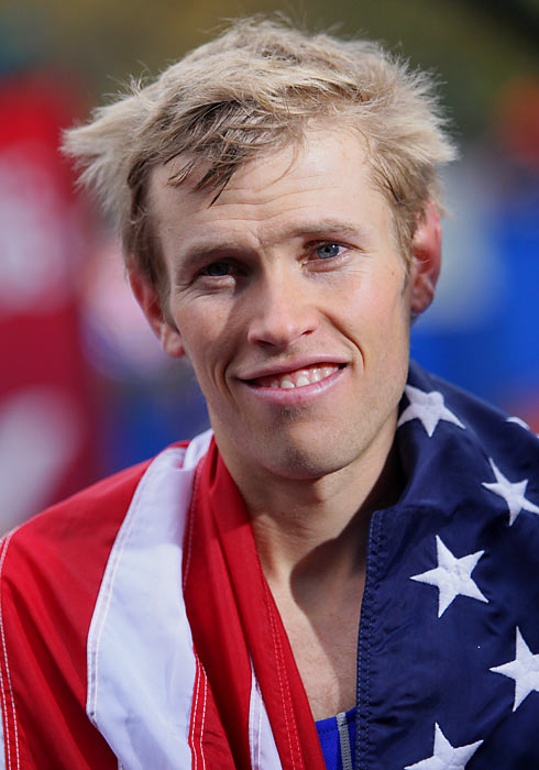 Caught in the moment, Ryan Hall is the vision of a bright future for the American distance squad.