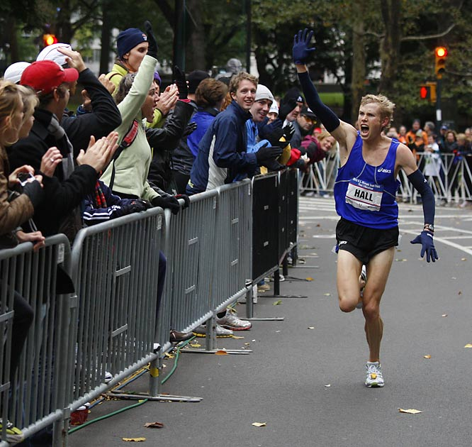 Hall ran the mile at Stanford but now knows that the marathon is his race.