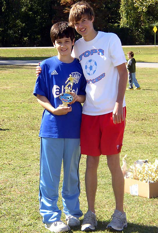 Taylor Bell, a star soccer player at Pulaski Academy in Little Rock, formed TOPS (Total Outreach Program for Soccer) four years ago to enable children with mental and physical disabilities to enjoy the sport.