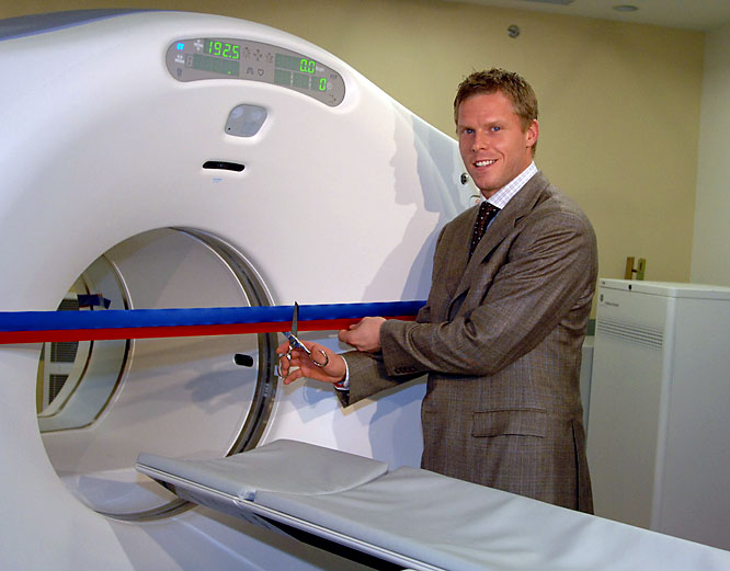 Montreal Canadiens captain and cancer survivor Saku Koivu started a foundation that raised $2.5 million toward the purchase of a PET Scanner for Montreal General Hospital.