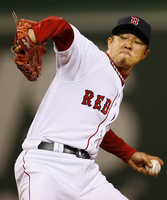 When the Red Sox inked lefty Hideki Okajima out of Japan, he was initially thought to be Robin to Daisuke Matsuzaka's Batman: a side-kick who could speak the language and help him adjust to life in the United States. Amazingly, however, Okajima not only cost tens of millions of dollars less than the bank-breaking Dice-K, but arguably turned in the better rookie year. Okajima and his funky, literally head-turning delivery served as the foundation for the World Champion Red Sox bullpen, turning in a 2.22 ERA, .202 BAA and 0.97 WHIP in 69 IP. He also cost $2.5 million over two years with a $1.75 million club option for 2009.