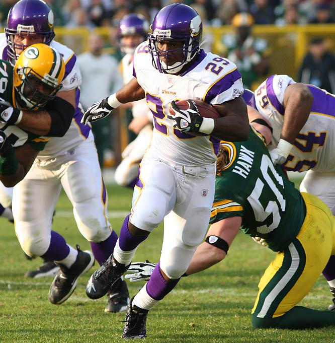 """Adrian """"All Day"""" Peterson was taken seventh in the 2007 NFL Draft.  That would make six teams filled with deep remorse, if you're scoring at home. The Raiders, Lions, Browns, Cardinals and Redskins all passed on the youngster that many are already hailing as one of the best backs in NFL history."""