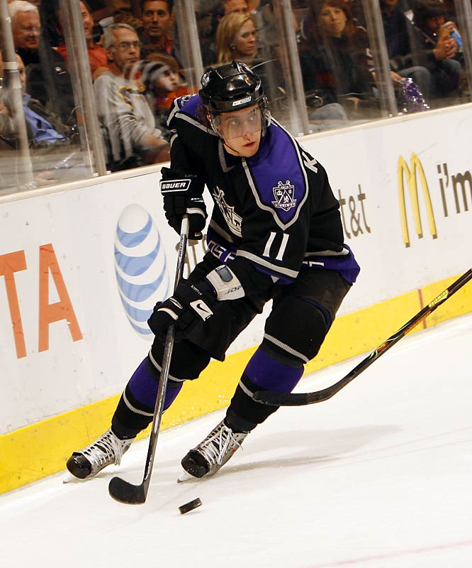 If not for injuries, Kopitar could have easily won the Calder Trophy last season -- scoring 20 goals and 61 points in 72 games. The  20-year-old is on pace for 40 goals and 85 points this year.