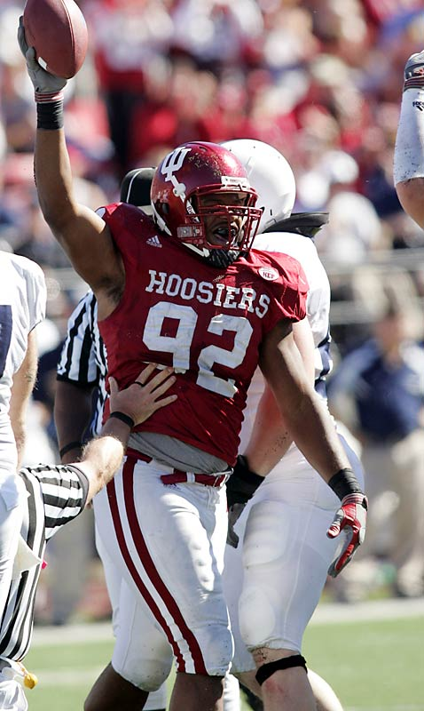 The hulking, 6-foot-3, 270-pound Indiana sophomore defensive end emerged as one of the nation's premier pass rushers. He had two sacks in his first career start against Indiana State en route to nation-leading 16 sacks. Middletown was named to AP's All-America third team and was a first-team All-Big Ten pick.