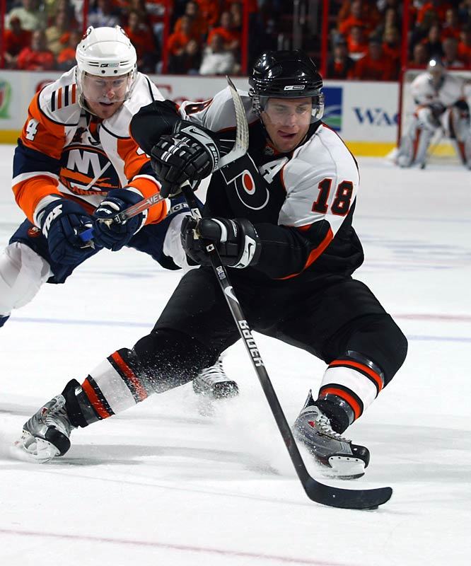 The 22-year-old center is showing the potential that prompted the Flyers to select him in the first round in 2003 -- and recently ink him to a 12-year extension. Richards plays a smart, two-way game and can be a playmaker on the power play. He's on pace for 40 goals and 96 points this season.