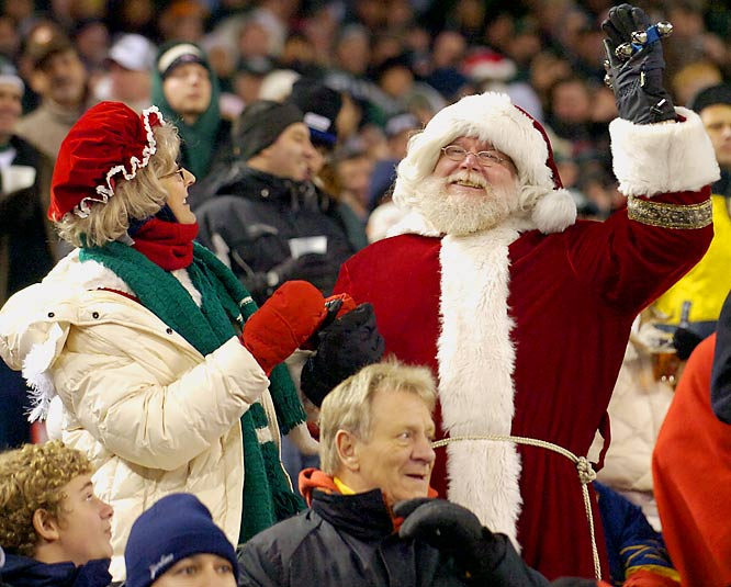 But the biggest celeb of all was at Sunday's Browns-Jets game. We just hope Santa wasn't one of the people chanting vulgarities at halftime.