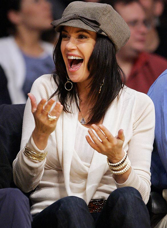 Also at the game was Teri Hatcher.