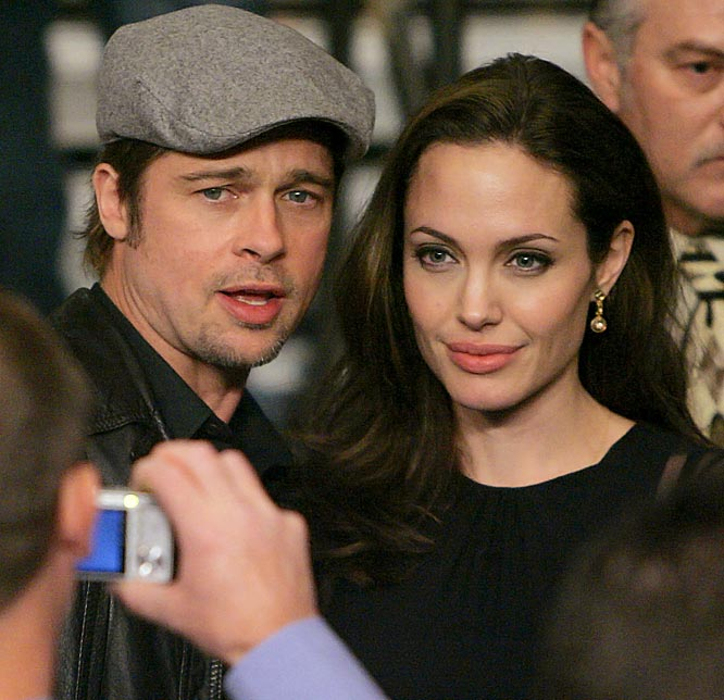 The A-Listers, including Brangelina, also showed up en masse for Saturday's fight between Floyd Mayweather Jr. and Ricky Hatton.