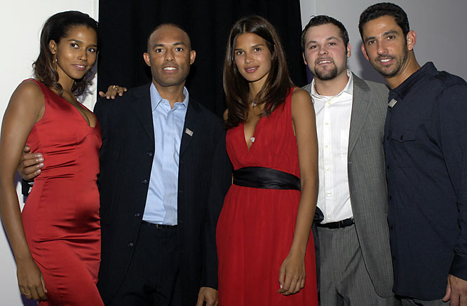 Posada was joined at the party by (from left to right) model Anna Paula, Mariano Rivera, model Raica Oliveira and Joba Chamberlain.