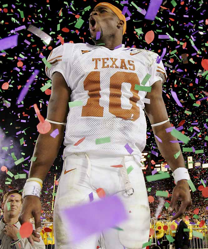Few college players are more associated with winning. Young finished with a 30-2 career record and his .938 winning percentage as a starting quarterback ranks sixth best in Division I-A history. In what many consider the greatest Rose Bowl performance, Young ran for 200 yards and threw for 267 in a 41-38 win over USC.<br><br>Runner-up: <br>Babe Parilli, QB, Kentucky (1949-51)