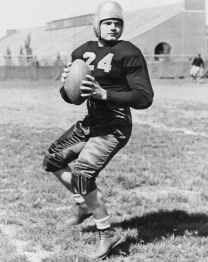 Kinnick led the Hawkeyes to a  6-1-1 record in 1939 and was responsible for 107 of the Hawkeyes' 130 points that season. <br><br>Runner-up: <br>Pete Dawkins, HB, Army (1957-59)