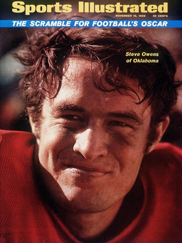 A two-time All-America, Owens was the second player in OU history to win the Heisman (1969). He scored 57 touchdowns, including 23 in 1969. <br><br>Runner-up: <br>Chris Spielman, LB Ohio State (1984-87)