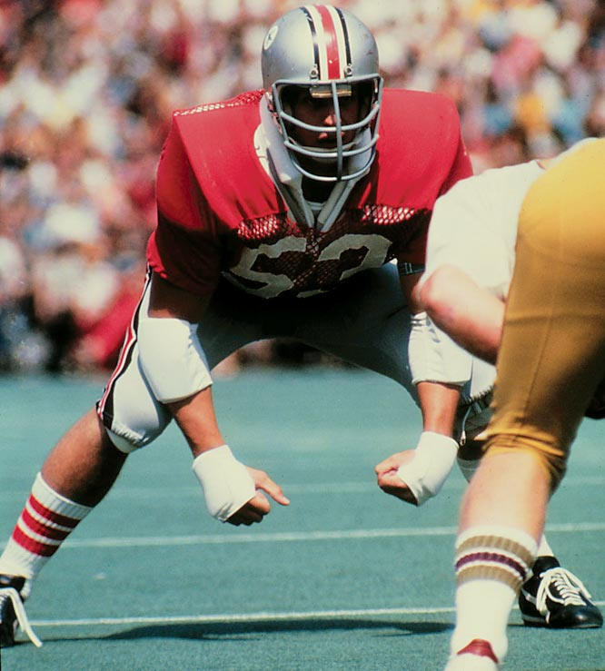 An All-America linebacker in 1972 and 1973, Gradishar led the Buckeyes to two Rose Bowls.<br><br>Runner-up: <br>Clay Shiver, C, FSU (1992-95)