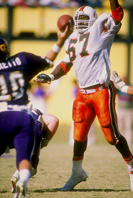 Maryland's dominance on the line earned him the 1990 Outland Trophy. He was the first overall pick in the 1991 NFL Draft.<br><br>Runner-up: <br>Aaron Taylor, T, Nebraska (1994-98) <br><br>Send comments to siwriters@simail.com