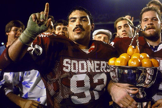 Casillas was a menace to quarterbacks. He won the 1985 Lombardi and helped the Sooners win a national title in '85.<br><br>Runner-up: <br>Reggie White, DT, Tennessee (1980-83)