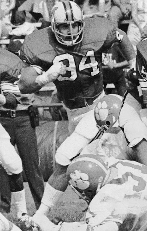 No player has ever been better for the Terps. White won the Outland and Lombardi awards in 1974 and was an All-America in 1973 and 1974. He holds Maryland's single-season record with 24 tackles for a loss in 1974.<br><br>Runner-up: <br>Tony Franklin, K, Texas A&M (1975-78)
