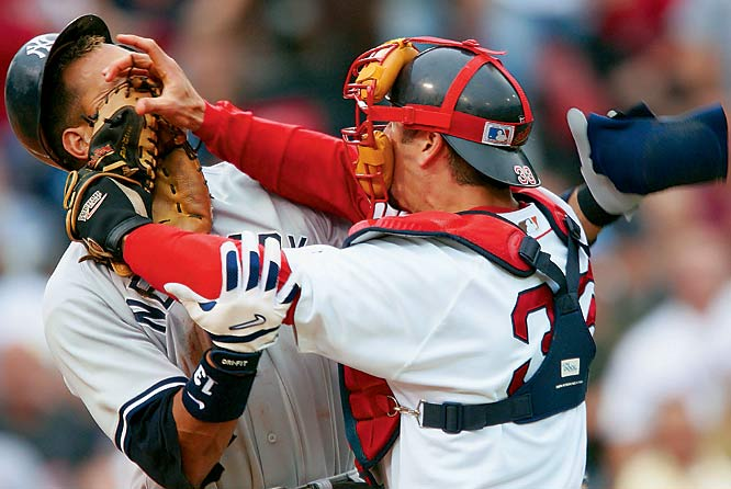 One of the best stories I've ever worked was Boston's improbable march to the World Series title in 2004. During the dog days of July, an inside pitch to Alex Rodriguez sparked this scuffle between the Yankees third baseman and Jason Varitek. Many people point to this exchange as the turning point in Boston's season. I was glad to be there to record an image that is now part of New England sports lore.