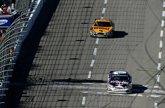It's a simple theory in racing; the only lap you need to lead is the last one. In a scintillating duel with former teammate Matt Kenseth, Burton battled door-to-door before taking control of the race shortly after the white flag lap.