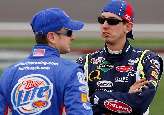 "As the All-Star Challenge reached its final segment, the Busch Brothers were both in contention for the victory. However, little brother Kyle got a little too aggressive, causing a wreck. ""Inevitably the Busch Brothers had to get together,"" said older brother Kurt. ""He did a weird move I didn't expect."""