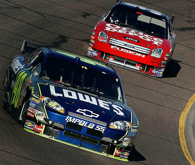 Jimmie Johnson's win was his fourth consecutive in the Chase and gave him an 86-point lead with one race left, virtually clinching his second straight title.