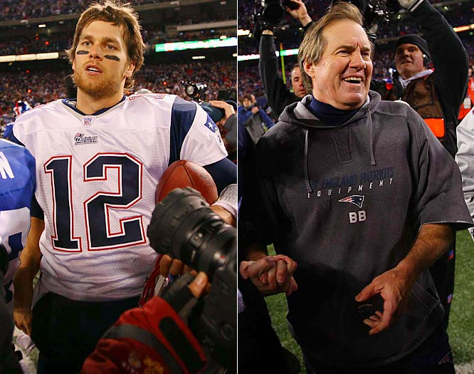 Tom Brady completed 32-of-42 passes for 356 yards and two touchdowns as Bill Belichick's New England Patriots became the first NFL team since the 1972 Dolphins (14-0) to win every game on the schedule (16-0).
