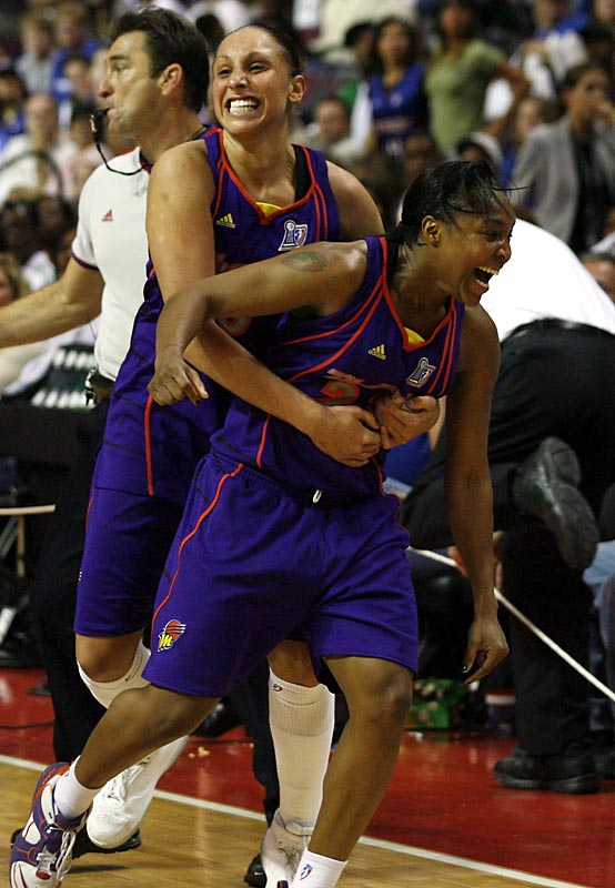 Led by series MVP Cappie Poindexter, as well as Penny Taylor and Diana Taurasi, the Phoenix Mercury became the first team to win the WNBA title on the road, with their Game 5 victory over the Detroit Shock.