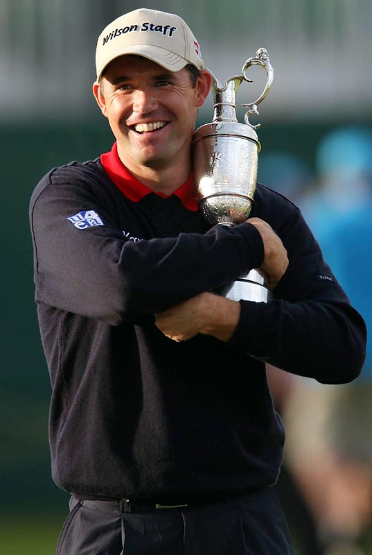 A double-bogey on the 72nd hole kept Padraig Harrington from winning the British Open in regulation, but he outlasted Sergio Garcia in a four-hole playoff to become the first Irishman to win the tournament in 60 years.