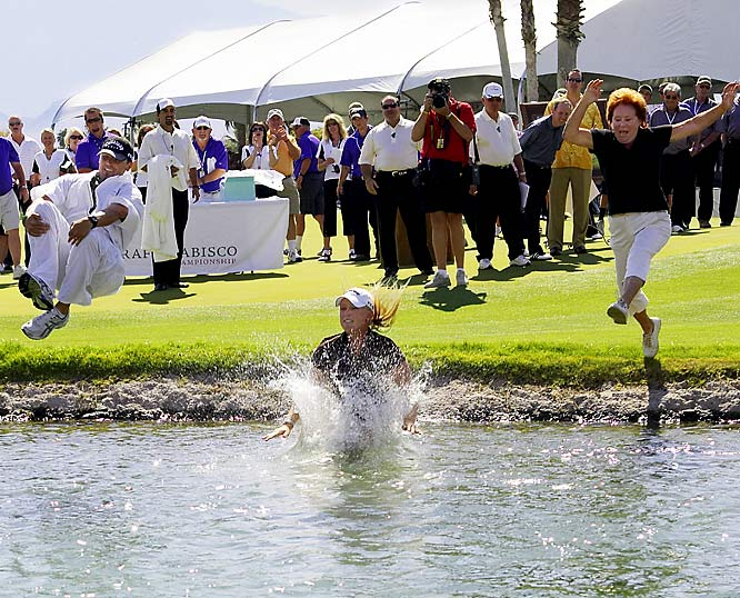 Eighteen-year-old Morgan Pressel became the youngest winner of a LPGA major after shooting a 3-under 285 at Rancho Mirage, Calif.