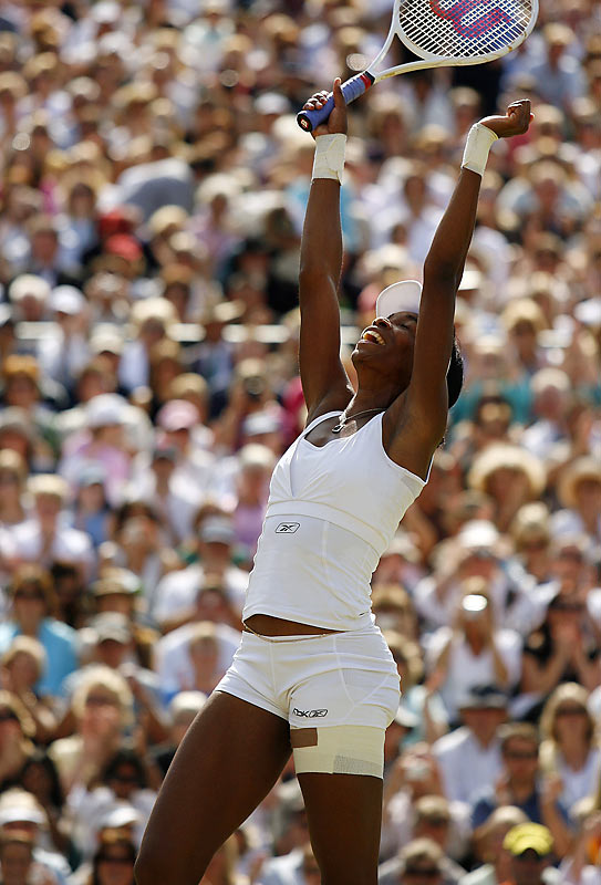 Playing at her favorite venue, Venus Williams won her fourth Wimbledon title by defeating Marion Bartoli.