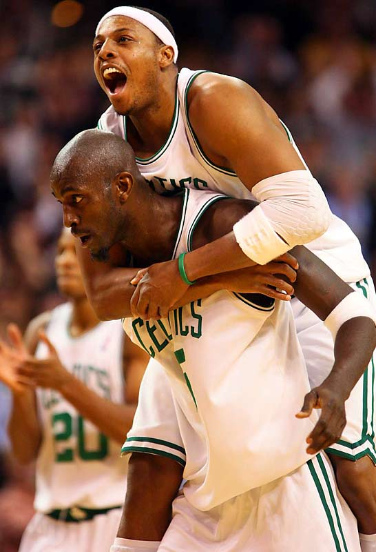 Pierce and the rest of the Celtics have climbed on Garnett's back in racing out to the NBA's best record.