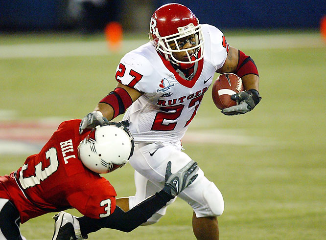 Rutgers earned its second bowl victory in the program's 138-year history by riding star RB Ray Rice (pictured). The junior rushed for 280 yards and four touchdowns.