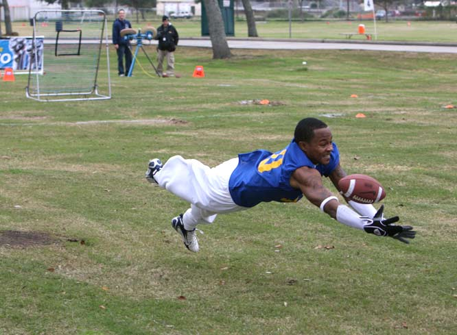 This Southern University player goes all out during the  Skills Challenge.