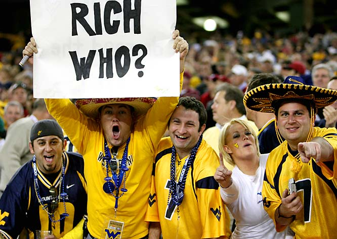 More members of the Rich Rodriguez Fan Club -- West Virginia faction.
