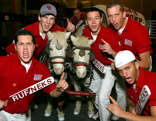 These Rufneks were pumped for the Sooner's Fiesta Bowl matchup, but their enthusiasm disappeared after West Virginia's 48-28 victory.