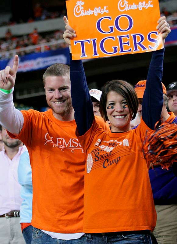 Despite the support of these Tiger fans, Clemson fell to Auburn, 23-20, in the Chick-fil-A Bowl.