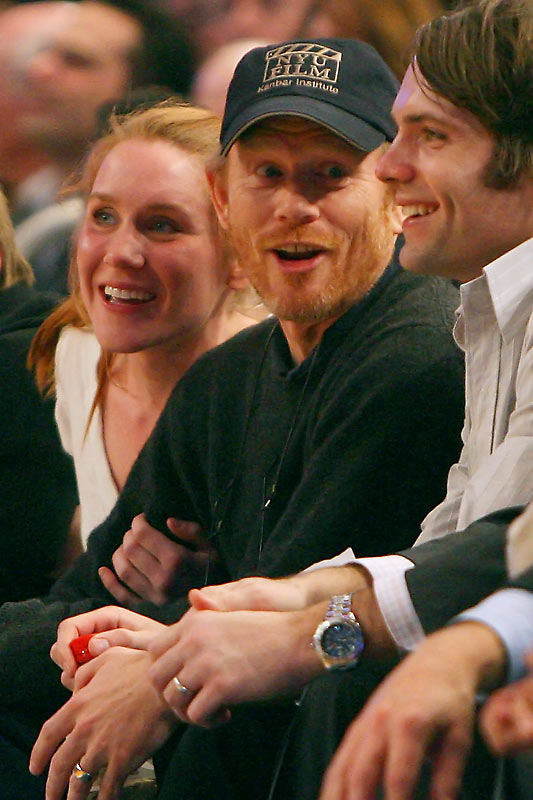 And here's more proof. Ron Howard was courtside for Wednesday's Rockets-Knicks game at Madison Square Garden.