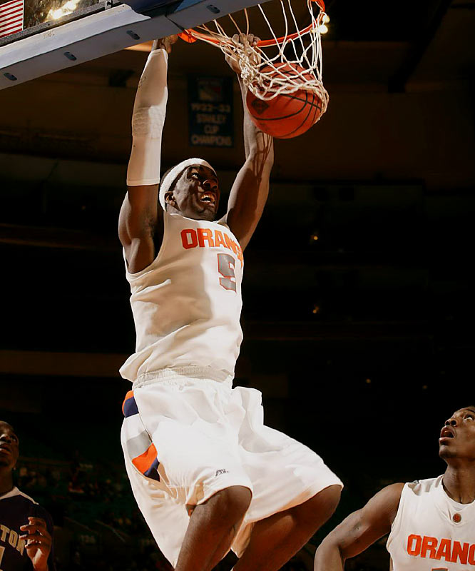 The Baltimore native may not quite be the next coming of 'Melo, but he's averaging 19.1 ppg for the Orange.