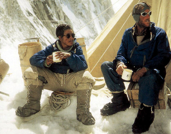 Sir Edmund Hillary (right), son of a commercial beekeeper in Taukau, New Zealand and one of the 20th century's greatest adventurers, died Friday at 88.
