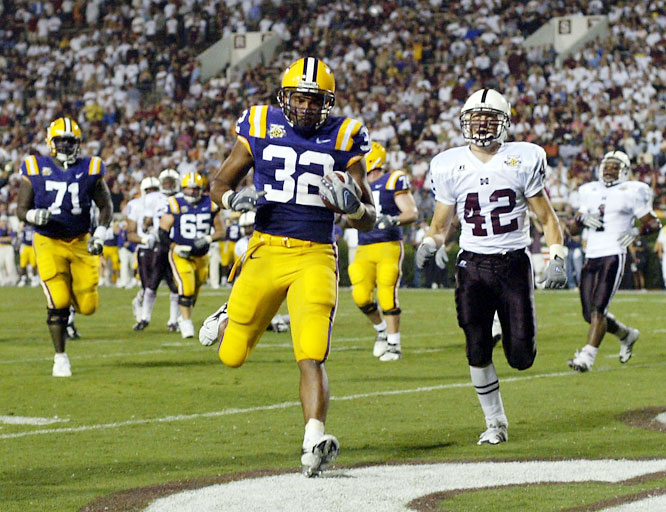 On the opening night of the college football season, the Tigers pounded a Mississippi State team that ended up with eight wins. QB Matt Flynn paced the Tigers' offense with two touchdown passes.