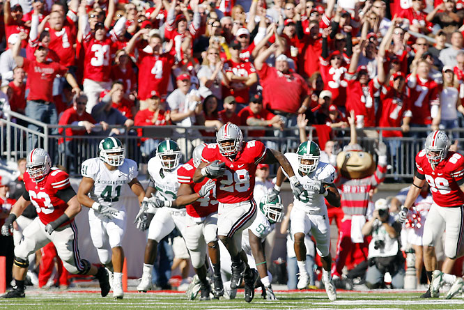 """In their first week as No. 1, the Buckeyes almost blew a comfortable lead, giving up two touchdowns off of turnovers last in the third quarter. After the game, Ohio State RT Kirk Barton put it best: """"When your foot is on that jugular, you have to kill that fool."""""""