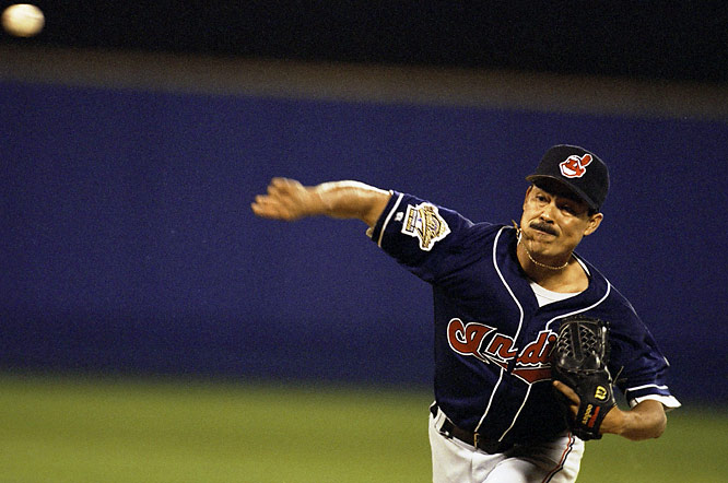 The right-handed workhorse known as El Presidente helped Baltimore to the American League pennant in his fourth major league season, pacing the Orioles in innings pitched (292.3) and complete games (18). Sixteen years later, Martinez pitched the Indians to their first World Series since 1954 with a masterful performance in Game 6 of the 1995 ALCS. But his team would again fall short in the Fall Classic as the Tribe bowed to the Atlanta Braves, four games to two.