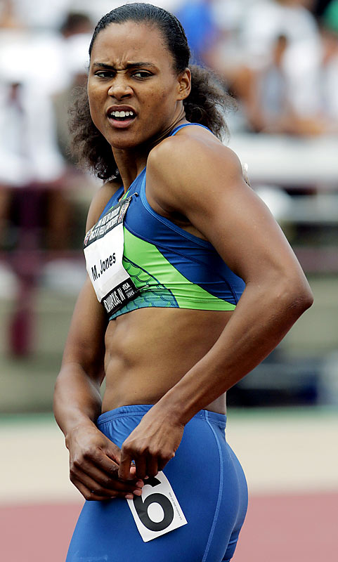 Jones tests positive for a banned substance at the U.S. Championships.  She is later cleared by her second sample.