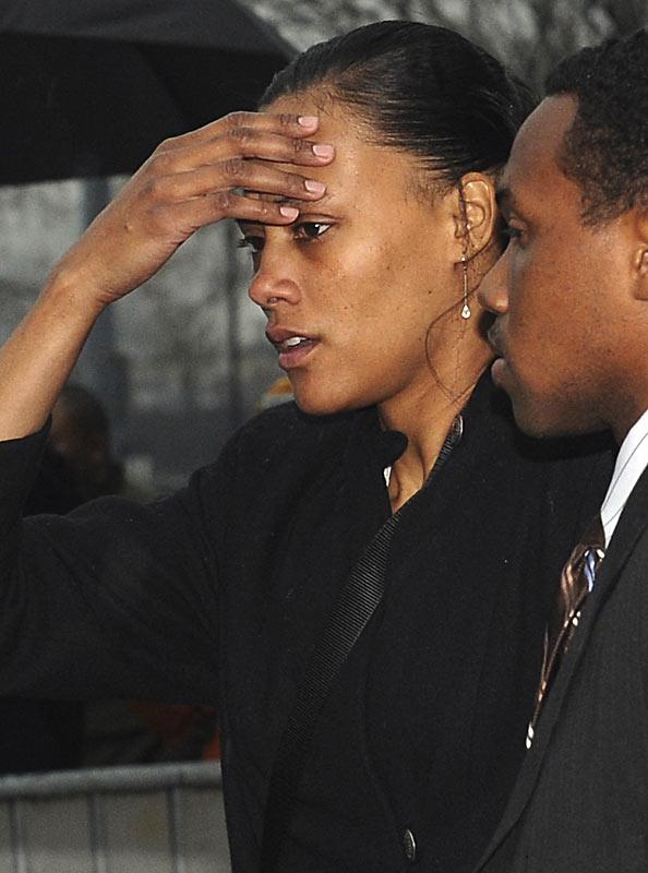 Despite pleas that Jones be shown leniency, a judge sentences her to six months in prison.
